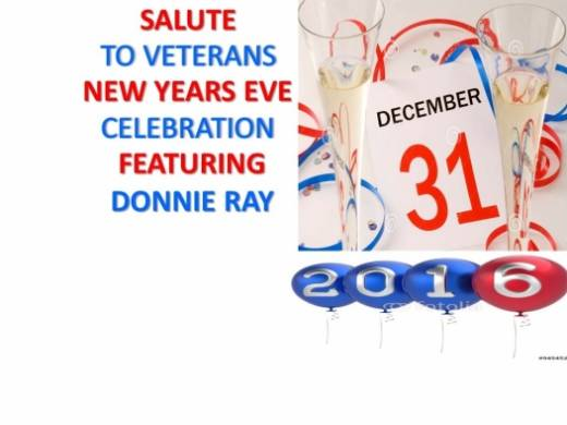SALUTE TO VETERANS NEW YEARS EVE FEATURING DONNIE RAY